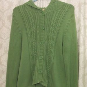 Faded Glory Cardigan sweater with Hood L NWOT